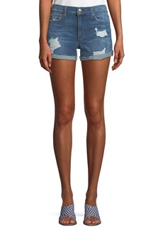 Joe's Jeans Phoebe Distressed Rolled Denim Shorts