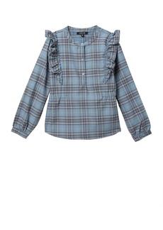 Joe's Jeans Plaid Ruffle Shirt With Ruffle Detail (Big Girls)