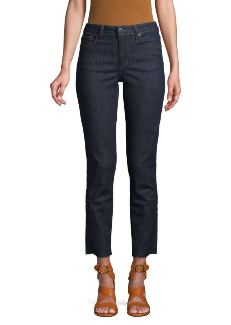 Joe's Jeans Raw-Edge Ankle Straight-Leg Jeans