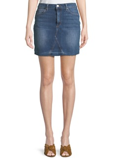 Joe's Jeans Raw-Hem A-Line Denim Skirt