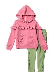 Joe's Jeans Ruffle Hoodie & Legging 2-piece Set (Toddler Girls)