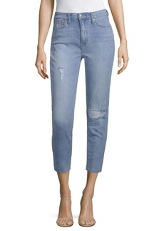 Sadie High-Rise Cut Hem Cropped Jeans