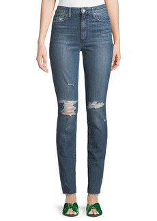 Joe's Jeans Shanti Raw-Hem Distressed Skinny Jeans