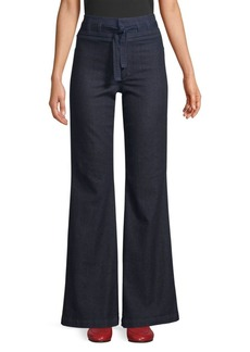Joe's Jeans Shayla High-Rise Tie Waist Flare Pants