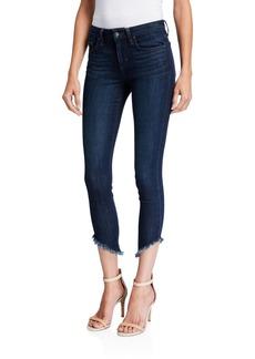 Joe's Jeans Side-Fray Cropped Skinny Jeans