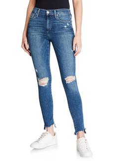 Joe's Jeans Skinny Ankle Sharkbite-Hem Distressed Jeans