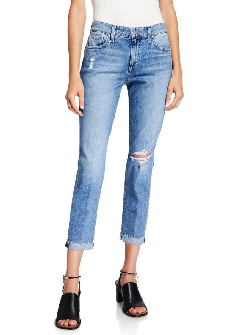 Joe's Jeans Slim Boyfriend Distressed Cropped Jeans