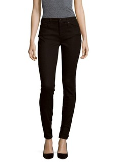 Solid Skinny-Fit Cotton Jeans