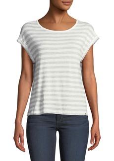 Joe's Jeans Striped Scoop-Neck Cotton Tee