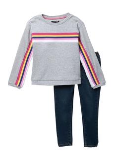 Joe's Jeans Striped Sweater & Pants Set (Toddler Girls)