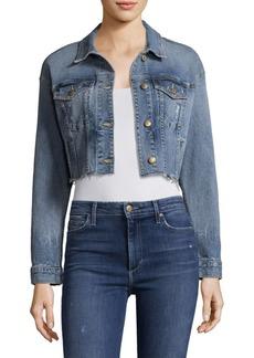 Joe's Jeans Taylor Hill x Joe's Cropped Denim Jacket