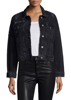 Joe's Jeans Taylor Hill x Joe's Cropped Denim Jacket
