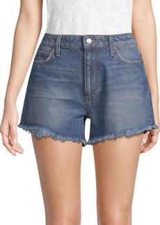 Joe's Jeans Teresa High-Rise Frayed Denim Shorts