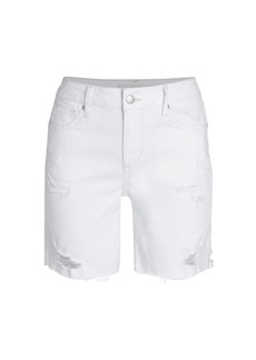 Joe's Jeans The Bermuda Distressed Denim Shorts
