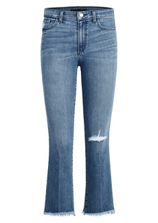 Joe's Jeans The Callie High-Waist Frayed Bootcut Ankle Jeans