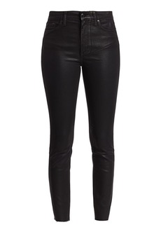 Joe's Jeans The Charlie High-Rise Ankle Cut-Hem Coated Jeans