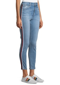 Joe's Jeans The Charlie Ankle Skinny Jeans w/ Velvet Stripes