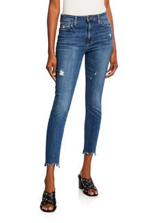 Joe's Jeans The Charlie Distressed Skinny Jeans w/ Sharkbite Hem