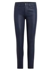 Joe's Jeans The Charlie High-Rise Coated Cut-Hem Ankle Skinny Jeans
