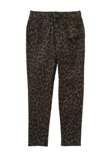 Joe's Jeans The Charlie High-Rise Leopard Print Skinny Jeans (Big Girls)