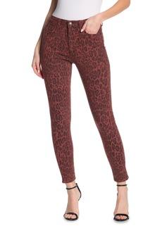 Joe's Jeans The Charlie Leopard Print Ankle Crop Skinny Jeans
