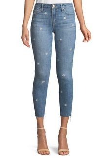 Joe's Jeans The Icon Cropped Embroidered Skinny Jeans