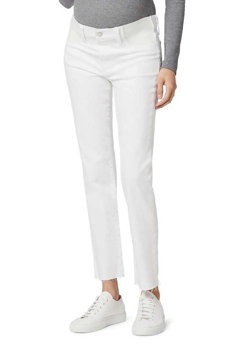 The Lara Ankle Frayed Maternity Jeans