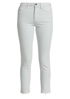 Joe's Jeans The Luna High-Rise Stripe Skinny Ankle Jeans
