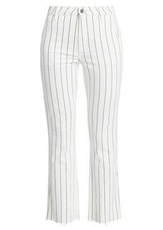 Joe's Jeans The Slim Kick High-Rise Striped Trousers