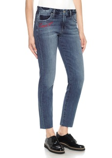 Joe's Jeans The Smith Embroidered Straight-Leg Ankle Jeans