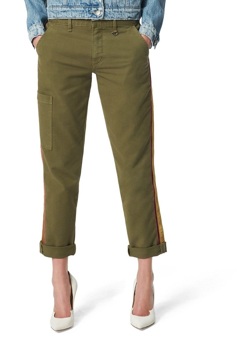 Joe's Jeans The Trouser Ankle Cargo Pants with Velvet Stripes