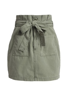 Joe's Jeans Utility Paperbag-Waist Mini Skirt