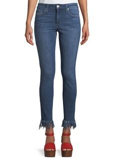 Joe's Jeans Veda Fringe-Hem Skinny Jeans