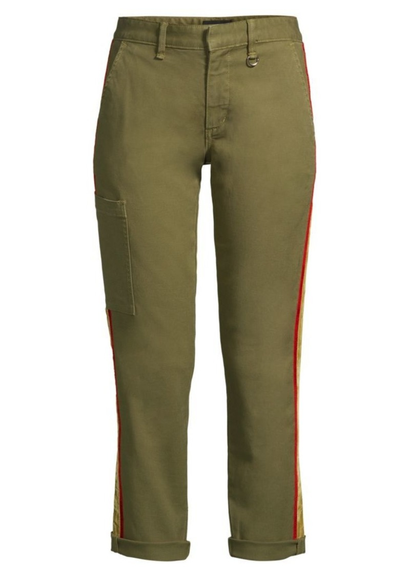 Joe's Jeans Velvet Side-Stripe Ankle Trousers