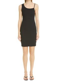 Women's John Elliott Asymmetric Cotton Rib Body-Con Tank Minidress