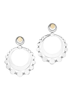 John Hardy 18K Gold & Sterling Silver Dot Large Round Earrings