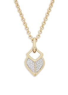 John Hardy 18K Yellow Gold & Diamond Pendant Necklace