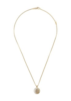 John Hardy 18kt yellow and 18kt white gold Dot Moon Phase diamond necklace