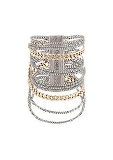 John Hardy Adwoa Aboah 18kt Yellow Gold and Silver Classic Chain Multi-Row Bracelet