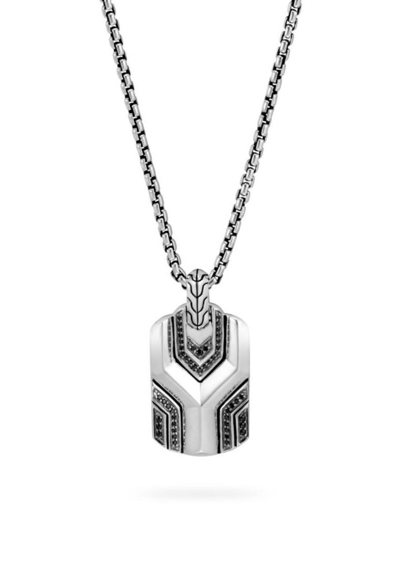 John Hardy Asli Classic Chain Gemstone Dog Tag Necklace