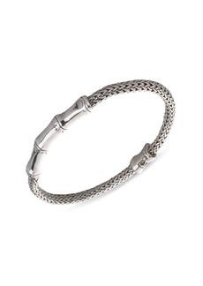 John Hardy Bamboo Sterling Silver Station Chain Bracelet