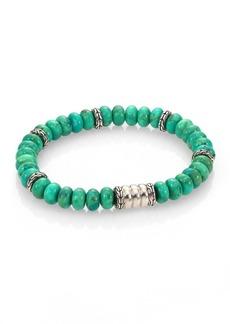 John Hardy Batu Bedeg Sterling Silver Bracelet/Mohave Green Turquoise