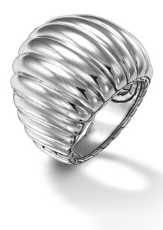 John Hardy Sterling Silver Bedeg Dome Ring - Size 7