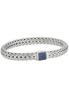 John Hardy Classic Chain 7.5mm Bracelet with Blue Sapphire