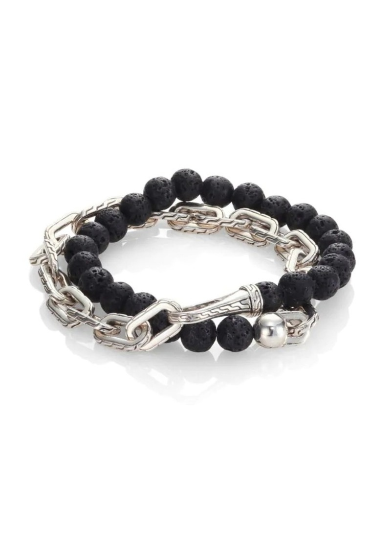 John Hardy Classic Chain Collection Beads & Link Bracelet