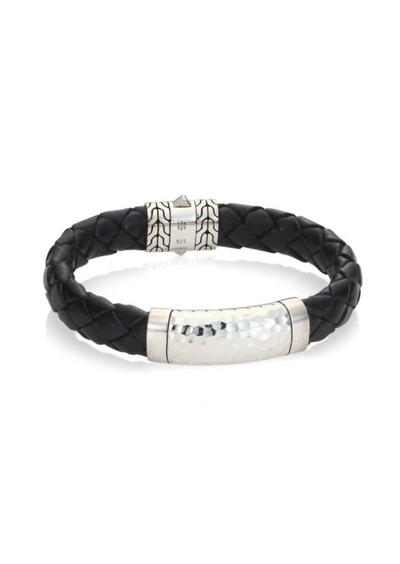 John Hardy Classic Chain Collection Sterling Silver & Braided Band Bracelet