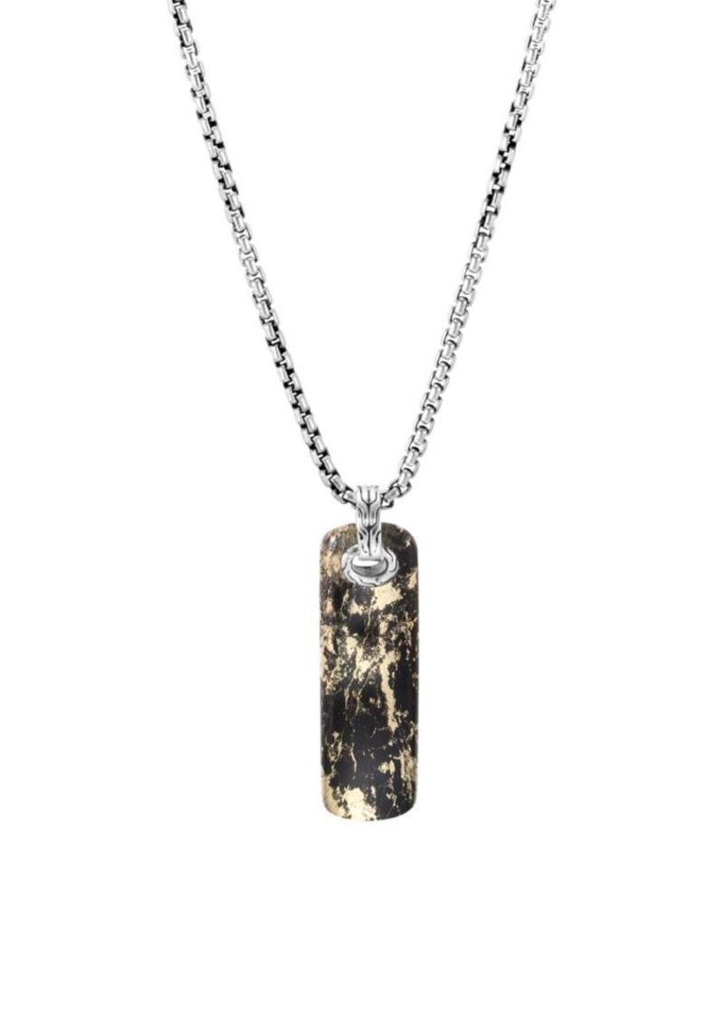 John Hardy Classic Chain Onyx Necklace