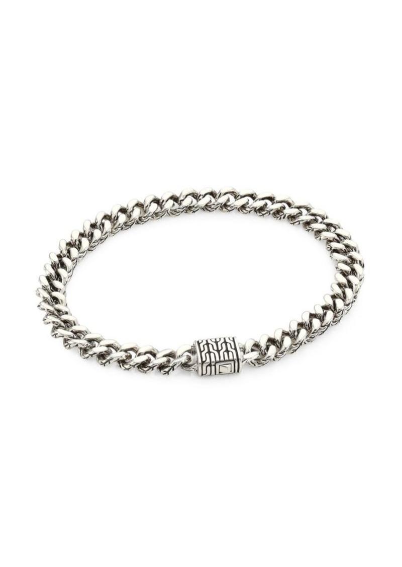 John Hardy Classic Chain Sterling Silver Curb Link Medium Bracelet