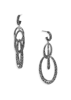 John Hardy Classic Chain Sterling Silver Drop Earrings