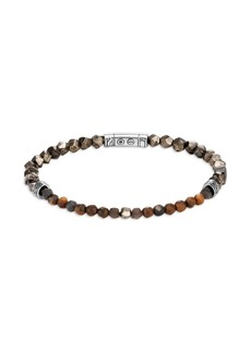 John Hardy Classic Chain Sterling Silver Gemstone Beaded Bracelet